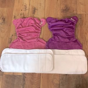 Bumgenius Flip Cloth Diapers 2 Covers, 4 Inserts
